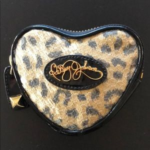 Betsy Johnson Coin Pouch - Leopard - Sequins